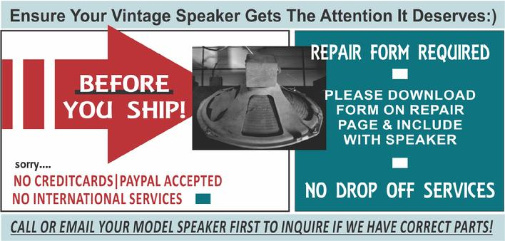 the speaker shop before you ship vintage speakers