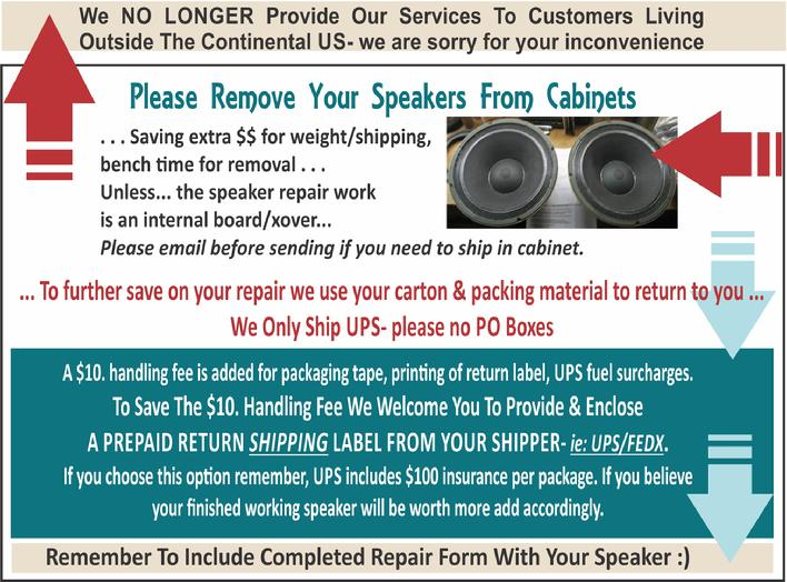 The Speaker Shop Shipping tips 3